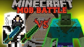 NINJA VS ZOMBIES Minecraft Mod Battle Mob Battles