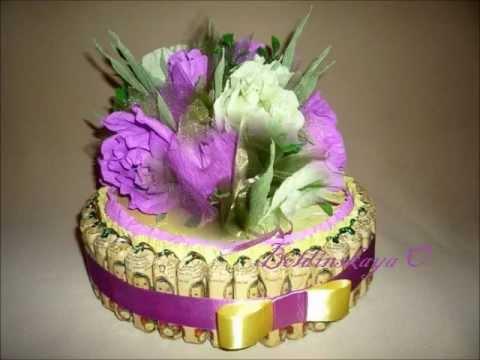 Как сделать тортик из конфет своими руками