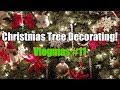 Christmas Tree Decorating Vlogmas 11