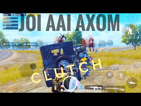 One of the most intense and Funniest moments || Playing with randoms || TEAM AXOM || PUBG MOBILE