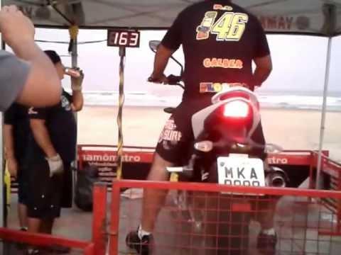 next 250 dafra teste de velocidade moto laguna 2012 incrivel