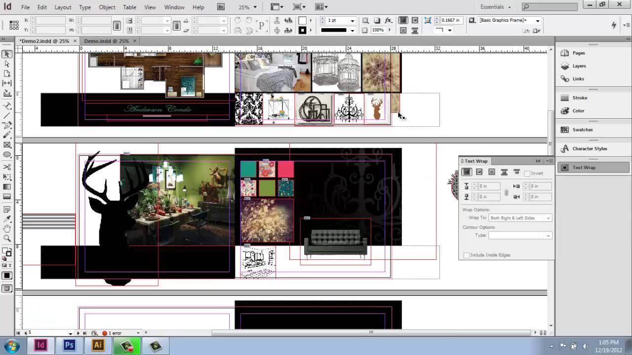 Adobe InDesign CS6 - Interior Design Portfolio - Part 11 ... Architecture Portfolio Layout Indesign