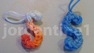 Skinny Letter S Alphabet Charm Rainbow Loom, Wonder Loom