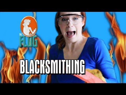 "Felicia Day Plays With Fire in ""Blacksmithing"" - The Flog, Ep 1"