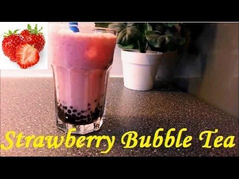 Strawberry Bubble Tea Recipe (Resep Bubble Tea Strawberi)