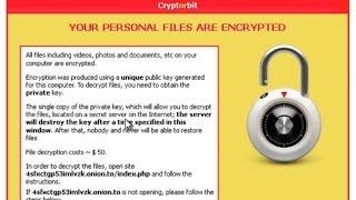 "How To Remove Cryptorbit/Bitcrypt Virus And ""HOWDECRYPT"