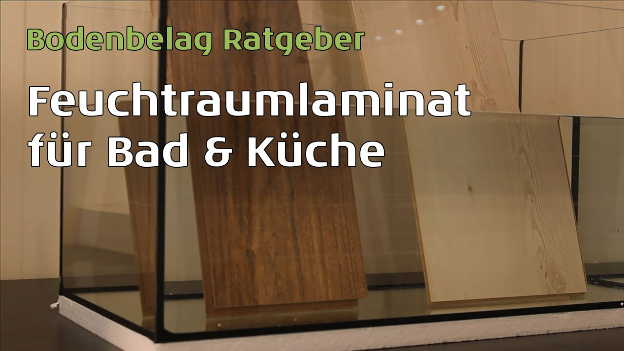 wineo feuchtraumlaminat auch f r k che bad durch das aqua protect system youtube. Black Bedroom Furniture Sets. Home Design Ideas
