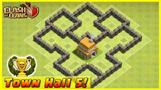 Clash Of Clans DEFENSE STRATEGY Townhall Level 5