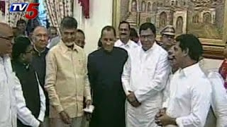 Chandrababu meets Jagan in Governor's Iftar party:KCR absent