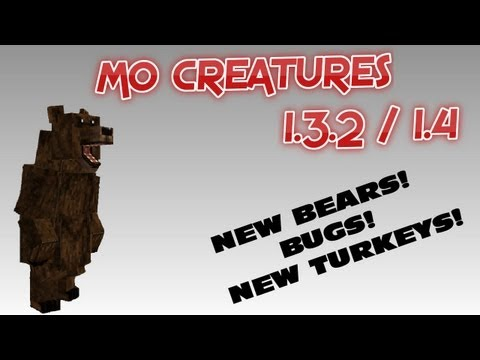 MO CREATURES 1.3.2 UPDATE! PANDAS, BUGS, TURKEYS! (4.0.4)