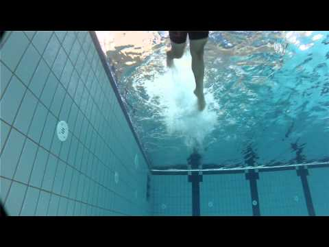 front crawl kicks with float