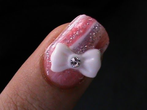 Bow Nail Art How To Do Nail 3d Bows Designs Tutorial For Beginners