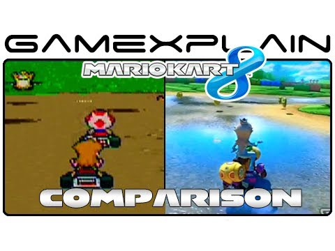 Mario Kart 8: Donut Plains 3 SNES Head-to-Head Comparison (Wii U vs. SNES)