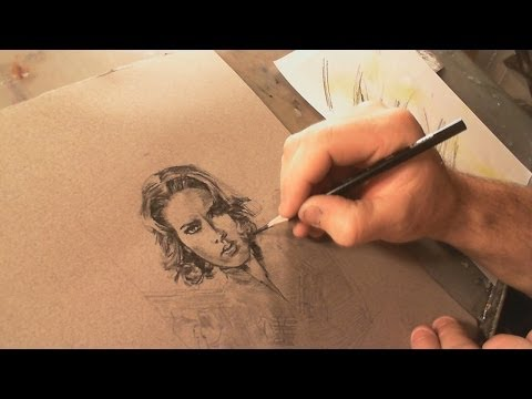 VBlog #6 Drawing Scarlett Johansson, Black Widow