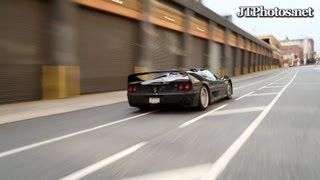 Ferrari F50 hard launch and flyby in NYC