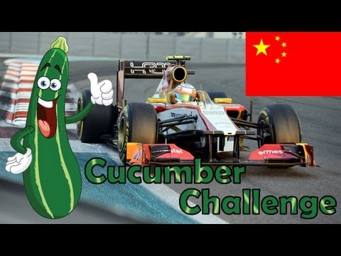 F1 2012 Career Mode Part 3: China (Cucumber Challenge)