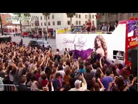 [Vietsub] Long live - Taylor Swift - Live in her Speak Now Bus at Hollywood, US [qu4ng13ao]