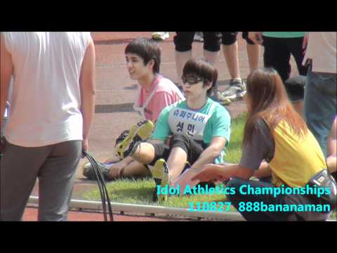 [fancam] 110827 Idol Athletics Championships Super Junior  Forcus Sungmin Stretch
