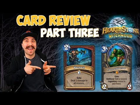 Witchwood Hearthstone Review - Rogue Legendary Minion and Common Warrior Card.