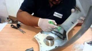 Reparación de plásticos con fibra de vidrio 2/2