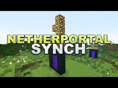 Minecraft - Nether Portal Synchronizing - Tutorial 1.7.4