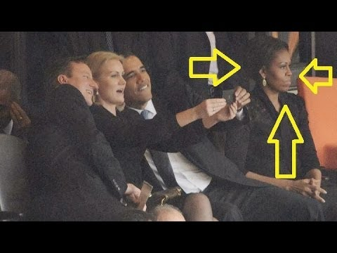 Caught On Cam : Obama Poses for Selfie at Nelson Mandela's Memorial Service