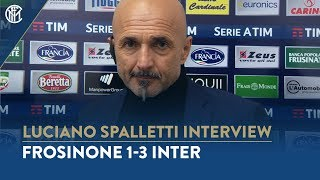 "FROSINONE 1-3 INTER | LUCIANO SPALLETTI INTERVIEW: ""Three important points"""