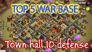 BEST Town Hall 10 Base Design For Clash Of Clans Top 5