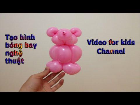 Vặn bóng nghệ thuật - Tạo hình con Gấu - BEARS created by balloons