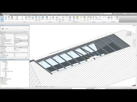 Vitral A74 Roof glazing as BIM object for Revit