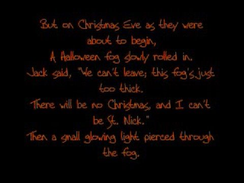 The Nightmare Before Christmas Original Poem - YouTube
