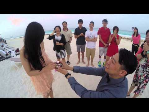 Joe's Surprise Proposal to Cindy in Cancun, Mexico on July 5, 2015