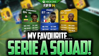 MY FAVOURITESERIE A SQUAD! FIFA 14 ULTIMATE TEAM BEST