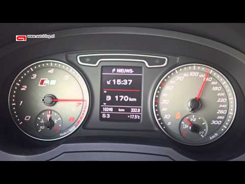 Audi RS Q3 speed: 0 - 200 km/h