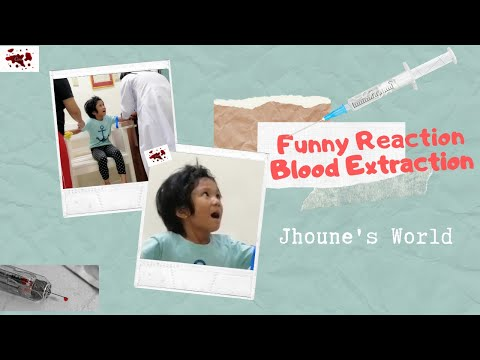 Kid's Funny Reaction - Blood Extraction - DULING si Jhoune - VLOG # 9