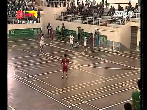 Futsal chung kết hiệp 1: ĐH Kiến Trúc ĐN - CĐ Lương Thực Thực Phẩm ĐN