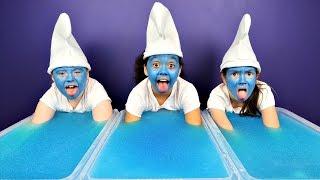 SUPER GROSS Gelli Baff Toy Challenge - Smurfs The Lost Village Movie Toys #Ad