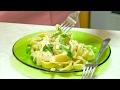 Complete Homemade Creamy Garlic Fettuccine Alfredo Video Recipe | Bhavnas Kitchen