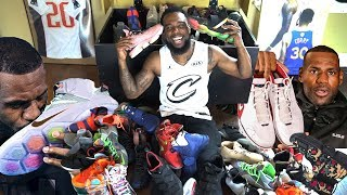 MY INSANE RARE LEBRON JAMES SNEAKER COLLECTION! NOTHING BUT HEAT!!