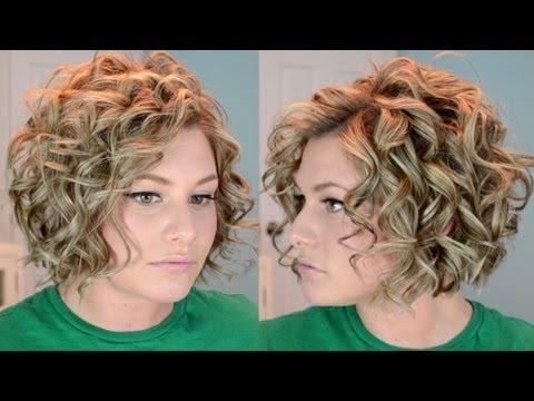 Short Curly Hair Tutorial - YouTube