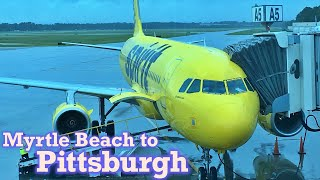 Full Flight: Spirit Airlines A320 Myrtle Beach to Pittsburgh (MYR-PIT)