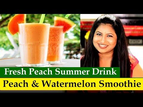 peach and watermelon summer drink