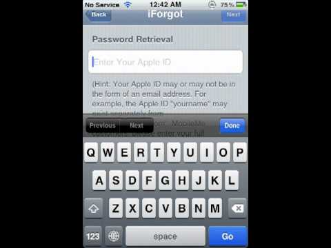 how to find your apple id password