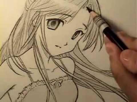 Hướng dẫn vẽ tranh cô gái  - Luutrong.Vn