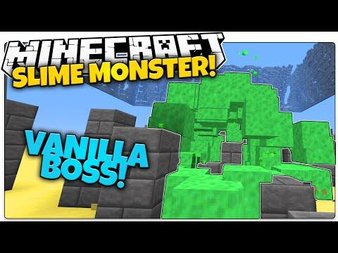 SLIME BOSS IN VANILLA MINECRAFT!   Sludge Monster That Chases You (Minecraft Vanilla Mod)