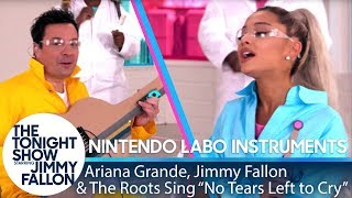 Ariana Grande, Jimmy & The Roots Sing