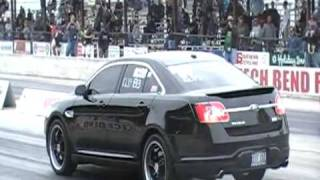 2010 Ford Taurus SHO Runs worlds first 12 second pass in the quarter mile!  12.75@108 videos
