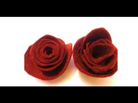 DIY Felt Roses / How To Make Flowers EASY!