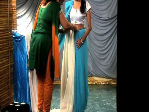 how to wear saree in different style video