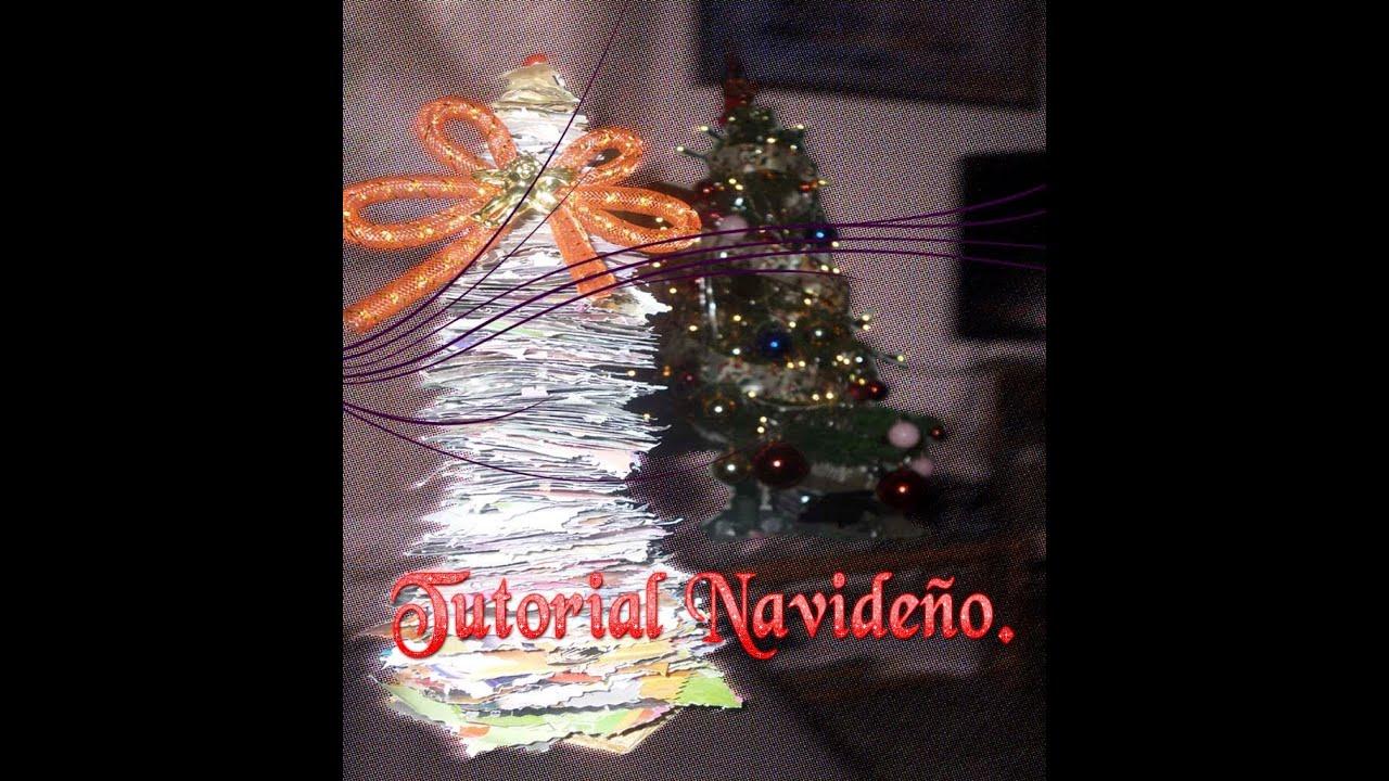 Como Hacer Un Arbol De Navidad Reciclado